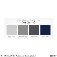 Shop Cool Neutrals Color Palette Swatch Card created by Tealinspiration. Modern Color Schemes, Paint Color Schemes, House Color Schemes, Grey Paint Colors, Paint Colors For Home, Neutral Colors, Basement Color Schemes, Exterior Color Palette, Cool Color Palette