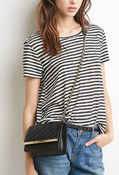 Quilted Faux Leather Crossbody   Forever 21 - 1000078429