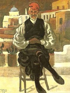 Old man from Naxos, 1937 by Polykleitos Regos Greek Paintings, Kids Calendar, 10 Picture, Conceptual Art, Printmaking, Fine Art, Sculpture, Traditional, Greece