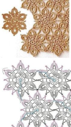 Книга: Continuous Crochet Motifs 2016 (Б - Diy Crafts - maallure Crochet Snowflake Pattern, Crochet Motif Patterns, Crochet Snowflakes, Crochet Diagram, Crochet Chart, Crochet Squares, Thread Crochet, Crochet Designs, Crochet Tablecloth
