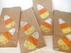 The Partiologist: Candy Corn Stamp