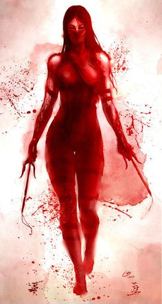 The Comic Ninja - Elektra by Guy Bourraine Jr Marvel Art, Comic Heroes, Marvel Knights, Comic Books Art, Psylocke, Marvel Comics Art, Mortal Kombat Art, Comics Universe