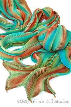 Shibori Girl — Arashi Shibori Silk Wraps