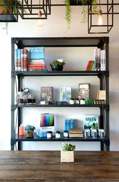 Pretty interior at Juice Served Here Interior Architecture, Interior And Exterior, Third Street, Juicing Benefits, City Of Angels, Interior Inspiration, Colorado, Juice, Bookcase