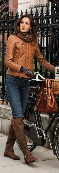 head to toe beauty...like the bike too! ;)  RL style ♥✤ | KeepSmiling | BeStayClassy