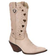 Durango Women's 11 Crush Heart Cutout Cowboy Boot - Taupe 9.5, Corolla Sand