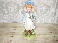 "1973 Vintage Holly Hobbie Ceramic Figurine 8"" World Wide Art  #CeramicFigurine"