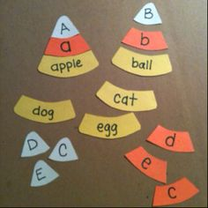 Fall letter-recognition activity K/1st
