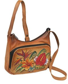 a947ddfa64 Special Offers Available Click Image Above  Anuschka Compact Crossbody  Travel Organizer - Tropical Paradise Tropical Paradise - Anuschka Leather  Handbags