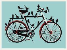 bikes + birds- love!