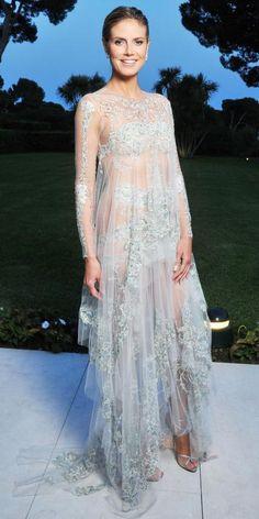 Heidi Klum in an ethereal dress.