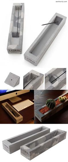 Vandal Tactical Flight incense tray made of concrete! Get w/ matching ashtray + candle holder too.