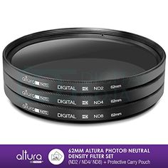 62MM Altura Photo Neutral Density Professional Photography Filter Set (ND2 ND4 ND8) + Premium MagicFiber Microfiber Cleaning Cloth - http://our-shopping-store.com/camera-photo-products.asp