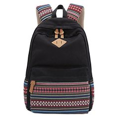 Coofit® Vintage Aztec Tribal Preppy Style Canvas School Backpack (Black) Coofit http://www.amazon.com/dp/B00OT8WD4U/ref=cm_sw_r_pi_dp_XsICwb0WCE7N0