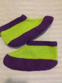 Ravelry: deliknits' Slippers (two needle)