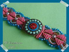 Des perles et une passion...: bracelets micro macramé