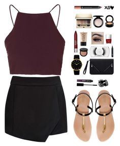 """""""Places"""" by bb123456789 ❤ liked on Polyvore featuring Topshop, Forever New, Zara, Larsson & Jennings, MAC Cosmetics, Bobbi Brown Cosmetics, NARS Cosmetics, Revlon, Butter London and Clarins"""