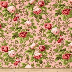 Verna Mosquera Indigo Rose Bloomfield Carna from @fabricdotcom  Designed by Verna Mosquera for Free Spirit, this cotton print fabric is perfect for quilts, home décor accents, craft projects and apparel. Colors include shades of pink, shades of green and peach.