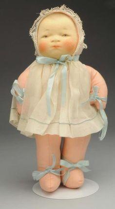 "Lot # : 1111 - Rare Cloth ""Bye-Lo Baby"" Doll."