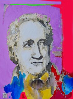 Goethe, mr marian hergouth, portrait ps 1 Mixed Media Painting, Ps, Digital Art, Porcelain, Portrait, Artist, Paper, Canvas, Drawing S