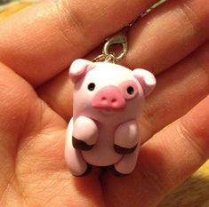 Waddles+Charm+inspired+by+the+character+Waddles+from+Gravity+Falls!    Each+charm+is+handmade+with+polymer+clay+and+comes+with+a+cell+strap.+