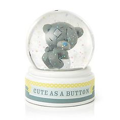 """This Tiny Tatty Teddy Baby water globe is a perfect item to add to the nursery. It has Tiny Tatty Teddy dressed in a nappy inside this adorable Me To You Baby water globe with the wording """"cute as a button"""". Water Globes, Snow Globes, Love You Cute, My Love, Blue Nose Friends, Tatty Teddy, Cute Teddy Bears, Girl Nursery, Baby Care"""