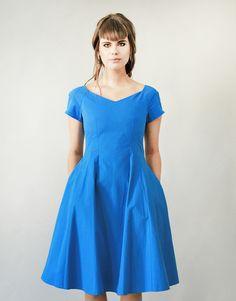 Kleid in X-Form // blue dress X-Shape by Femkit via DaWanda.com
