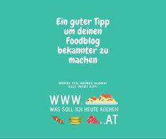 Foodblog bekannter machen Kraut, Food, Interesting Facts, Chef Recipes, Essen, Meals, Yemek, Eten