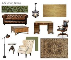 A Study In Green decorating inspiration. The Interior Design Advocate Study, Traditional, Decorating, Living Room, Interior Design, Box, Green, Wall, Inspiration