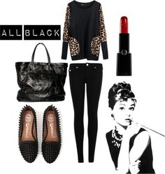 """All Black"" by queenbeebeverlyhills on Polyvore"