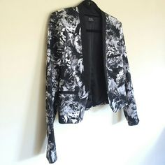 Floral print blazer This is the perfect blazer for spring/summer! Easy to throw on over just about anything. Purchased from ASOS. NWOT. Bardot Jackets & Coats Blazers