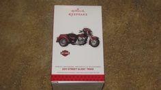 Hallmark Keepsake Christmas Ornament Harley Davidson Street Glide Trike 2011