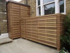 Iroko garden storage unit