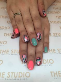 Neon summer nails By Yana @prepbeautyparlour #thestudiomika