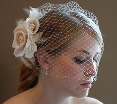 Vintage Blusher Birdcage Veil I could probably DIY this!!! Jessica, what do you think?! craft time?!