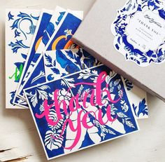 Stylish way to say 'Thank You' #luxe #stationery #thankyou #flatnotes comes in an assorted pack #kalapatagifts