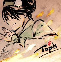 Doodle_Toph vs Fire by kelly1412.deviantart.com on @DeviantArt
