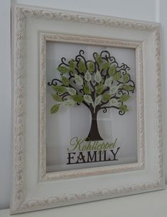 LOVE THIS!!!!! Framed and customized family tree. $65.00, via Etsy. http://www.etsy.com/listing/107359956/framed-and-customized-family-tree?