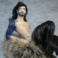 OOAK, Faun, Satyr, Male Artist Doll, One of a Kind Sculpture by Barbara Kee