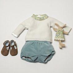 Liberty fabric. velvet bloomer. soft shoes