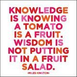 "Quotable Card Miles Kington: ""Knowledge is Knowing..."""
