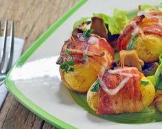 Salade cuite au lard et ses pommes de terre