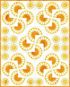 Sunflower Quilt White background