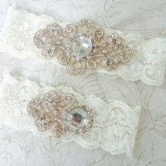 Vintage & Elegant With A Modern Twist – French Imported Ivory Lace & Beaded Embroidery.