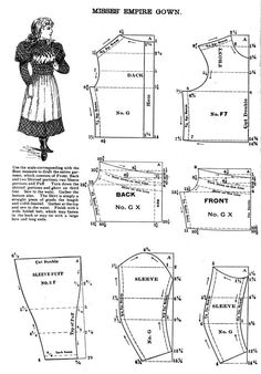 GirlsEmpireDressPattern1893.JPG (573×821)