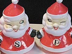 Holt Howard Winking Santa Claus Salt Pepper Shakers Vintage. Click on the image for more information.