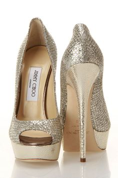 Great wedding shoe! Jimmy Choo Vibe Pumps In Champagne