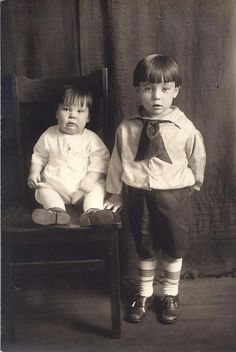 My Grandpa Donner with his big brother.