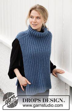 Breipatroon Dames top, patroon is GRATIS te verkrijgen. Drops Design, Knitting Patterns Free, Free Knitting, Crochet Patterns, Crochet Girls, Knit Crochet, Knit Vest Pattern, Plus Size Patterns, Vintage Knitting