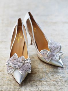 """""""Lovely"""" in Satin with Glitter Dot Bow from Kate Spade"""